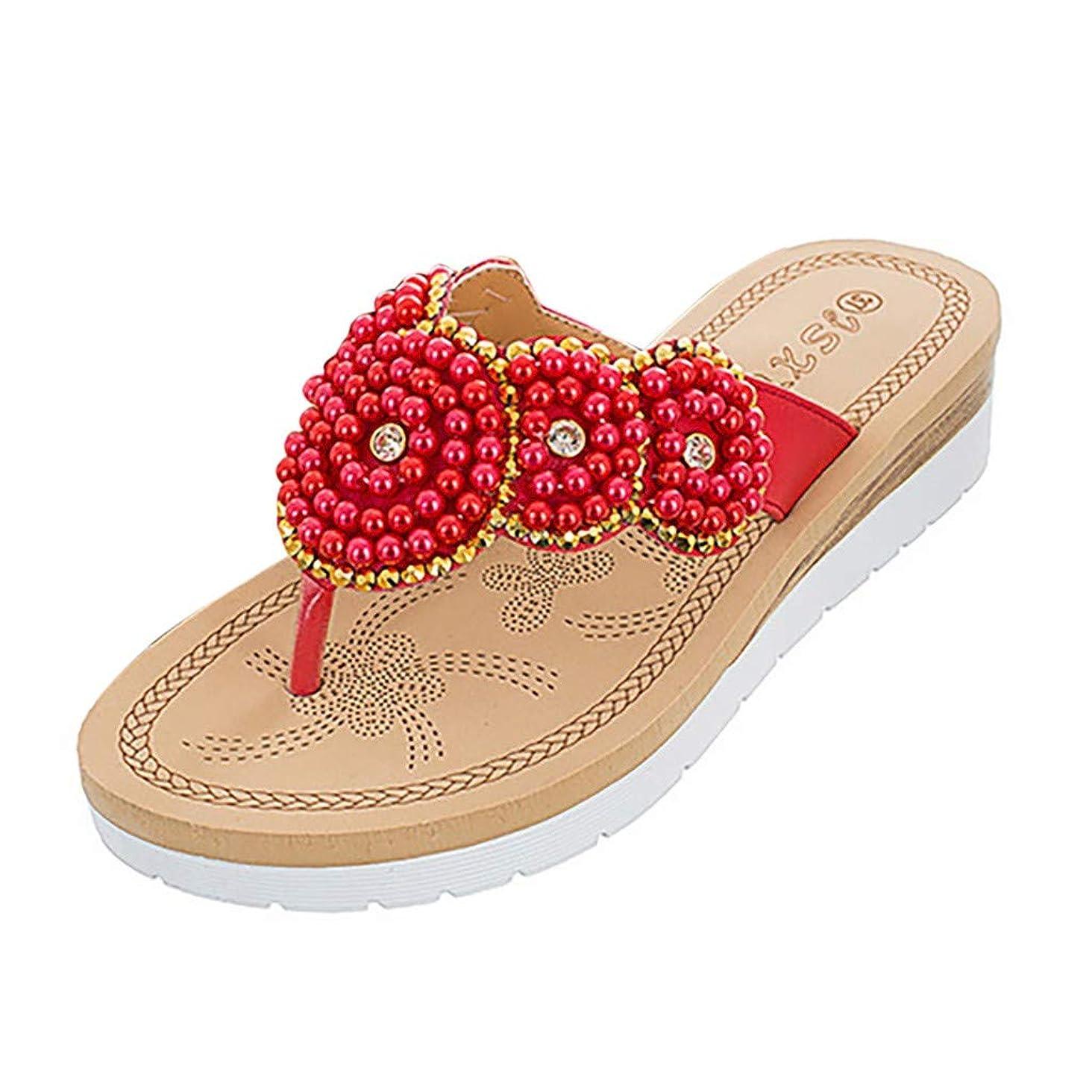 New in Respctful?Women's Bohemian Summer Platform Wedge Beach Flip Flop Toe High Heel Thong Sandals