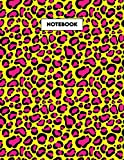 Leopard Print Notebook: 8.5 x 11 Lined Journal , 120 Pages