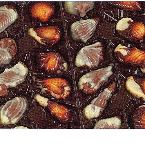 GuyLian Fruits de Mer 1 x 3kg Packung (belgische Schokolade in Muschelform mit Nuss-Nougat-Füllung)