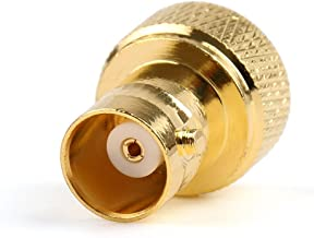 2x Adapter BNC Female Jack To SMA Male Plug RF Connector Gold Plating F/M Ships from USA