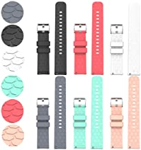 Compatible with Garmin Forerunner 245 645 Bands Replacement Accessory Sport Colourful Silicone Bracelet, 6Pack Strap Band ...