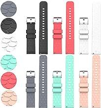 Compatible with Fossil Gen 4 Q Venture HR Bands Replacement Colourful Strap Bracelet, 6Pack 18MM Bands for Fossil Women's Gen 4 Venture HR/ Fossil Women's Gen 3 Venture Smartwatch