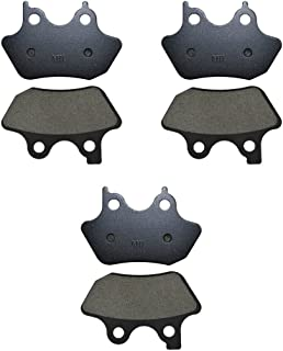 AHL Front & Rear Brake Pads Set for Harley Touring FLHTCU-I Electra Glide Ultra Classic / FLHRCi Road King Classic / Touring FLHT 2000 2001 2002 2003 2004 2005 2006 2007 (Semi-metallic)