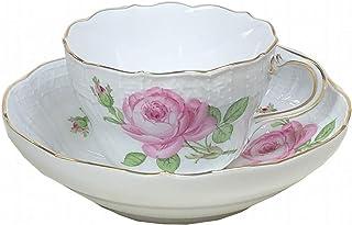 【正規輸入品】 マイセン [MEISSEN] マイセンのバラ(ピンク) ティーカップ&ソーサー 020110/02582