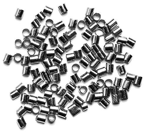 Cousin DIY 34712176 2x3mm 100pc Crimp Tubes, 2 by 3mm, GUNMETAL