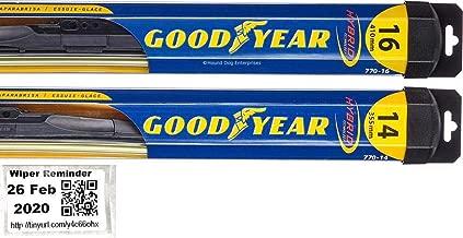 Hybrid - Windshield Wiper Blade Bundle - 3 Items: Driver & Passenger Blades & Reminder Sticker fits 2007-2014 Toyota FJ Cruiser