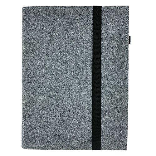 DIN A5 Organizer Hefteinband Einband Tasche aus Filz Filztasche Filzhülle Schutzhülle, 7.0 Zoll, Für Samsung, iPad, Huawei, eBook Reader wie Kobo, Tolino, Kindle (A5 Format / eBook Reader, Grau)