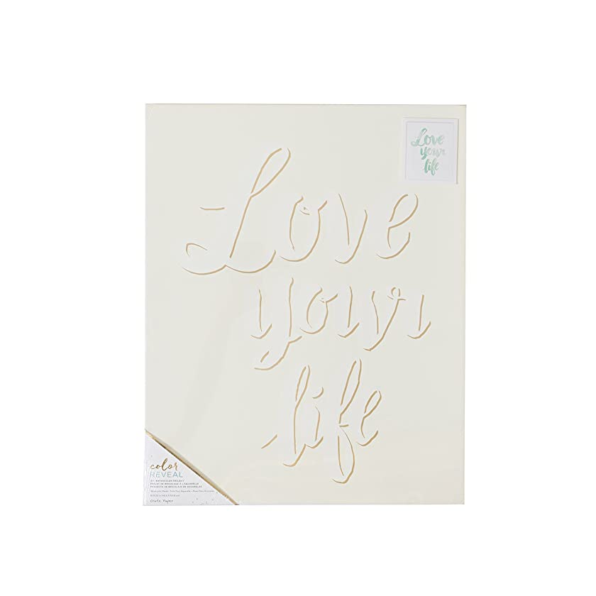 American Crafts Crate Paper Watercolor Panel Color Reveal 16 x 20 Inch Love Your Life