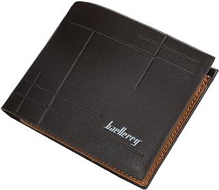 محفظة رجالي جلد من بايليري محافظ رجالي جيب مع 6 جيوب للكروت و جيب للبطاقة الشخصية محافظ للرجال (بني غامق)