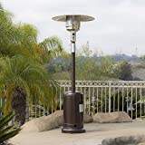 BELLEZE 014-HG-PH00-BRO 48,000BTU Premium Outdoor Patio Heater with Wheel LP Propane H, Hammered Bronze