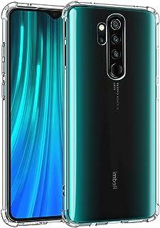 Funda para Xiaomi Redmi Note 8 Pro Funda - Ultra Fina Transparente TPU Carcasa, Xiaomi Redmi Note 8 Pro Caso. Cuatro Esquinas Protector Airbag, contra Arañazos Funda Protectora de la cámara OUJD