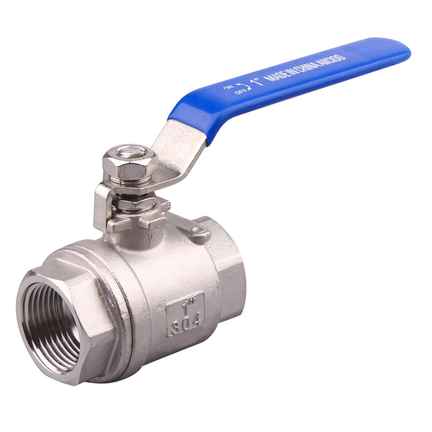 AIICIOO Full Port Ball Valve 2PC New products world's highest quality popular Stainless Female Off Shut Popular products Steel