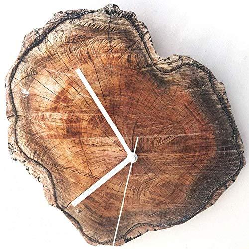 ZRSZ Reloj De Pared Vintage Reloj De Pared De Madera, Reloj De Pared Cosquillas, Relojes De Pared De Estilo Rústico para Sala De Estar, Cocina Y Dormitorio Reloj De Diseño