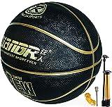 Basket-Ball Taille 7 avec Pompe intérieure extérieure Junior Enfants Enfants Jeunesse Jeu de Basketball Rue Caoutchouc Basket-Ball avec 3 Accessoires