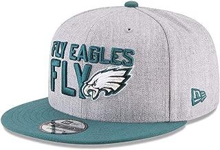 New Era Philadelphia Eagles Official 2018 NFL Draft On-Stage Snapback 9Fifty Adjustable Hat - Heather Grey