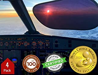 Kinder Fluff Window Shade (4px) – The Only Certified Sunshade Proven to Block 99.79% UVA & 99.95% UVB. Winner of Mom's Cho...