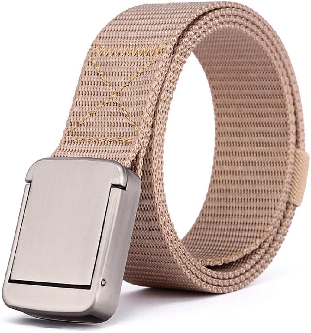 IOSHAPO Cinturón de lona de nylon para hombres y mujeres cinturón táctico estilo militar correas de trabajo pesado de liberación rápida hebilla de seguridad de metal