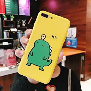 OUYAWEI Couple Cute Cartoon Yellow Green Small Dinosaur Mobile Phone Protection Shell Phone Case Phone Cover For OPPO yellow OPPO A83/A1