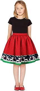 Party Dress For Christmas Gift Sagton Teen Kids Girls 3D Print Christmas Xmas Princess Skirt Clothes Outfits (Wine,11-12 Years)