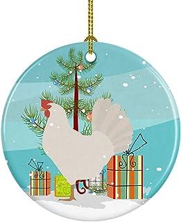 Caroline's Treasures Leghorn Chicken Christmas Ceramic Ornament, Multicolor