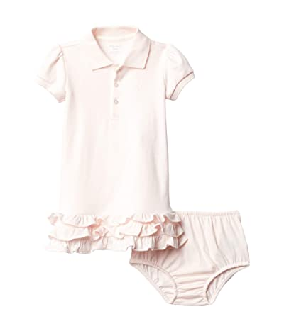 Polo Ralph Lauren Kids Ruffled Polo Dress Bloomer (Infant) (Delicate Pink) Girl