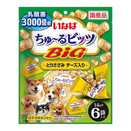いなば 犬用おやつ ちゅ~るビッツBIG とりささみ チーズ入り 14g×6袋
