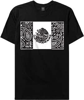 CaliDesign Mexican Bandana Flag Urban T Shirt Black/White