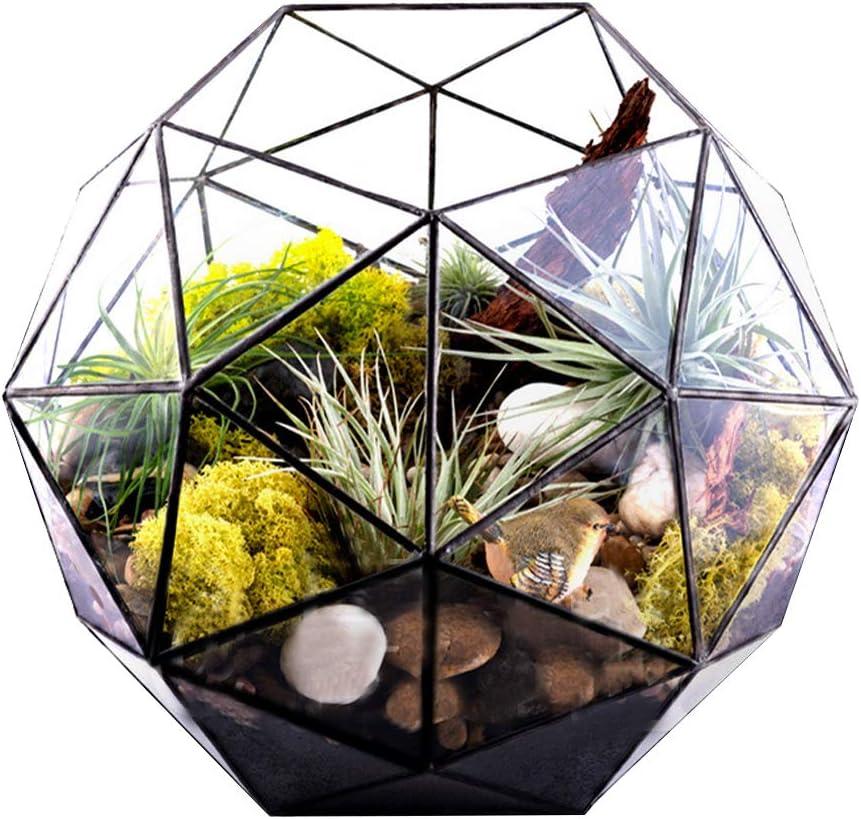 Ichiias Mail order Flower Pot Elegant Cheap Unique Container Glass Durabl Plant