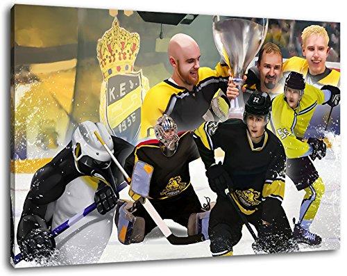 Krefeld Eishockey, Fan Artikel Leinwandbild, Größe: 100x70cm, Auf Holzrahmen gespannt, Kein Poster oder billig Plakat, Must Have für echte Fans