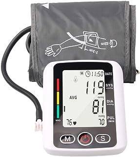 Wgwioo Tensiómetro Electrónico con Función De Voz, Pantalla LCD, Tensiómetro En La Parte Superior del Brazo, Brazalete Ajustable para Uso Doméstico