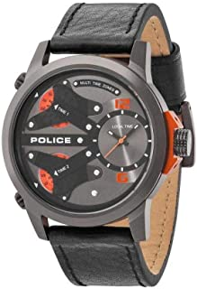 Police Men's Multi Color Dial Leather Band Watch - PL.14538JSU_61