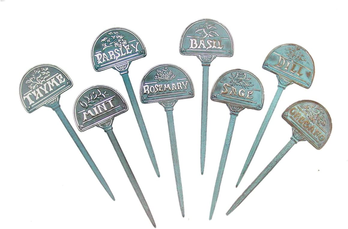 Taiwan Brass Herb Marker - of 8 Set Max 43% OFF Pcs Albuquerque Mall