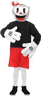 elope Cuphead Cosplay Basic Costume Kids