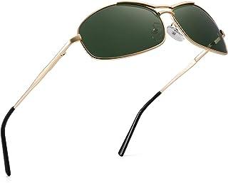 JIM HALO - Polarizadas Aviador Gafas de Sol Retangluar Bisagras de Resorte Conducir Anteojos Para Hombre