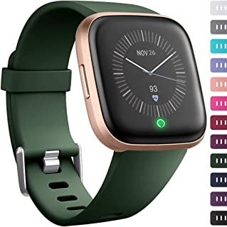 Ouwegaga Band Compatible for Fitbit Versa/Versa 2/Versa Lite/Special Edition Versa 2 All Versions Classic Wristbands for Women Men Multi Colors