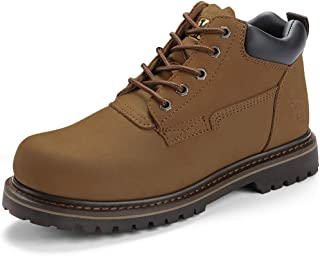 CAMEL CROWN 4 Men's Soft Toe Work Boots Lace Up Insulated Premium Leather Comfortable Ankle Boots for Men