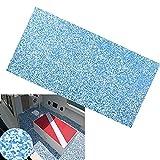 GOTOTOP Eva de imitación de teca, goma EVA, revestimiento de suelo de goma EVA para cubierta de suelo, autoadhesivo, 90 x 240 cm, color azul