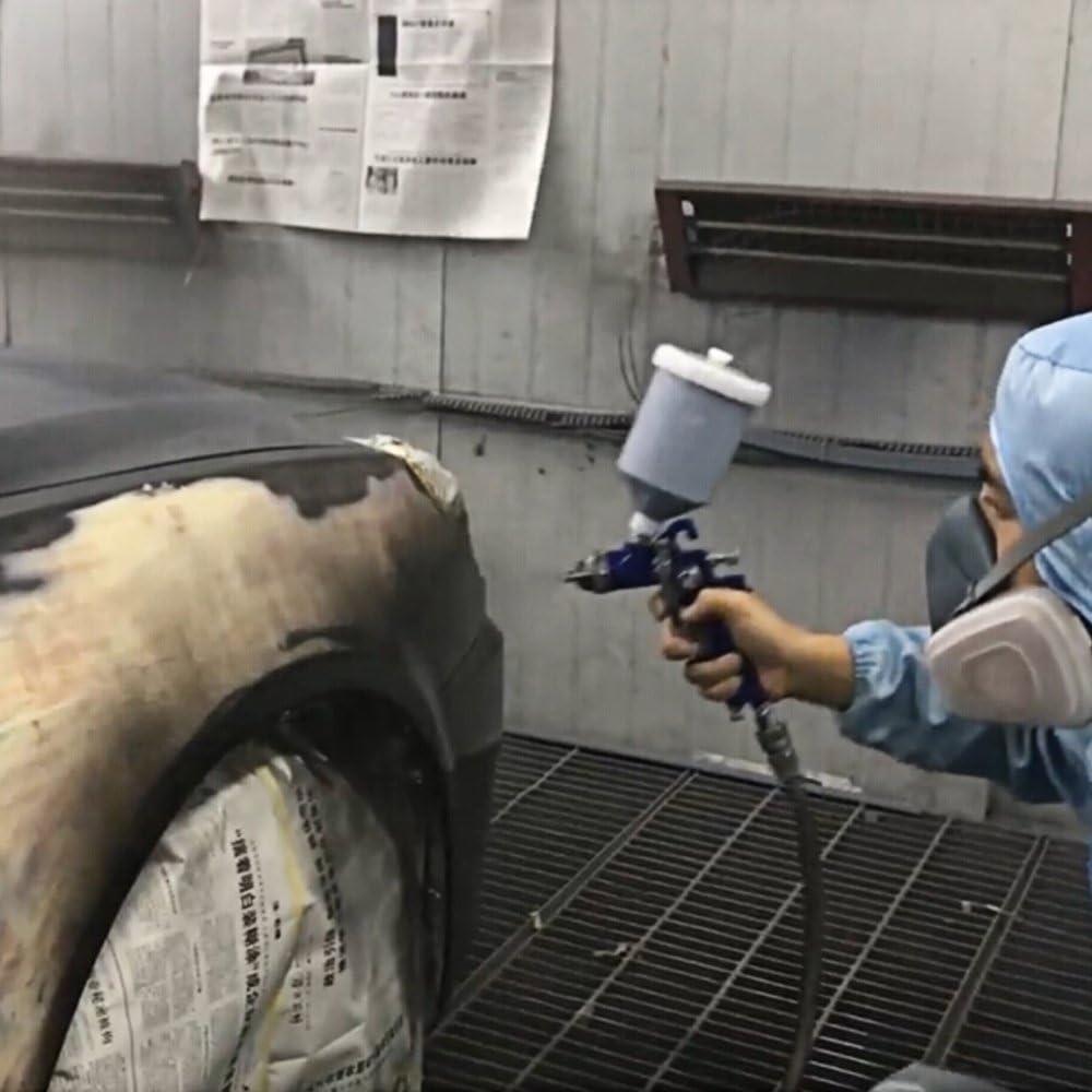 Kedelak 1.4mm Mini HVLP de pulverizaci/ón de aire Touch Up Paint Spray 600ml Gravity Feed Kit de aer/ógrafo Auto Car Furniture Coat de acabado pintura herramienta de pulverizaci/ón