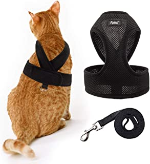 PUPTECK X-Figure Cat Harness with Leash - Adjustable Neck Escape Proof Mesh Walking Jacket for Kitties,Puppies