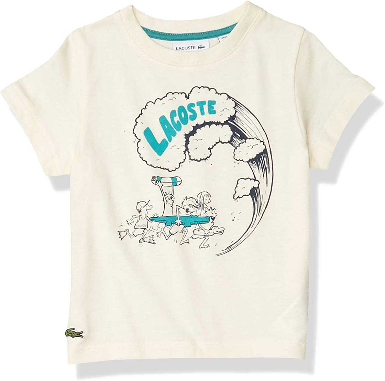 Lacoste Toddler Boys' Short Sleeve Summer Graphic Jersey T-Shirt