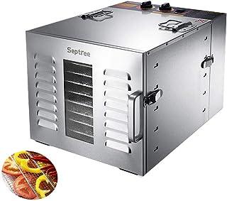 Séchoir à fruits, corps en acier inoxydable électrique de 60 L à température réglable Séchoir de 40 à 90 ° C pour les frui...