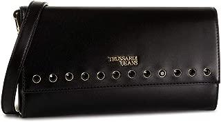 Trussardi Jeans 75B00559-9Y099993 Nero Borsetta da Polso Donna Black Heart Print W x H x L 22x14x5 cm