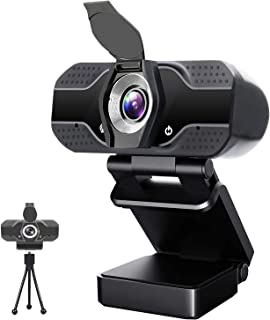 Webcam with Microphone, Full 1080P HD USB Web Camera for Windows Mac OS PC, Laptop, Computer, Desktop, for Live Streaming,...