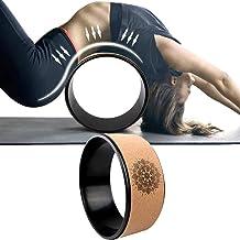 Yoga Wheel Rad Fitness Pilates R/ückbeugen Hilfsmittel Yogarad aus Kork rutschfest #spinmeround stabil geruchsneutral Nikitty Yoga