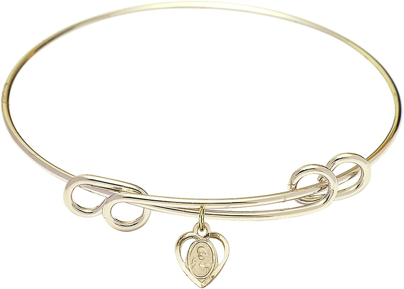 DiamondJewelryNY Double Loop Bangle Bracelet Scapular a Brand Cheap Sale Ranking TOP20 Venue Cha with