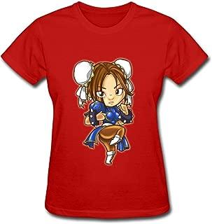 Duanfu Chun li Women's Cotton Short Sleeve T-Shirt