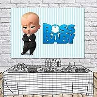 ボスの赤ちゃんの写真の背景男の子の誕生日の背景写真の背景写真のブースの小道具子供の誕生日結婚式フェスティバルテーマパーティー子供の写真の背景生まれたばかりの赤ちゃんの写真撮影