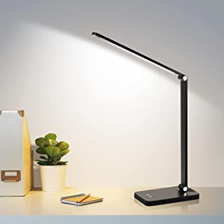 Led Desk Lamp, Eye-Caring Table Lamps with 5 Lighting Modes and 3 Brightness Levels, LED Desk Lamp with USB Charging Port,...