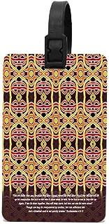 HappyToiletLidCoverX Threefold Cord Ecclesiastes 4∶9-12 18inX18in Travel Luggage Tag Suitcase ID Tags Baggage Handbag Tag Labels