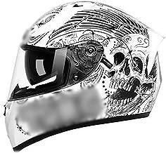 BBJZQ Full Face Racing Motorcycle Helmet with Dual Visors Dirt Bike ATV Motorbike Motorcycle Moped Off Road Crash Cross Downhill Four Wheeler Sealing Keep Warm in Winter ECE Approved